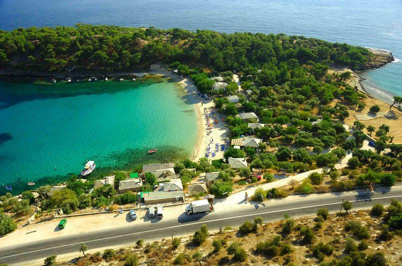 Thassos adası Aliki beach