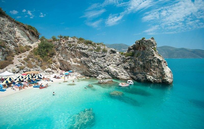 Thassos adası marble beach