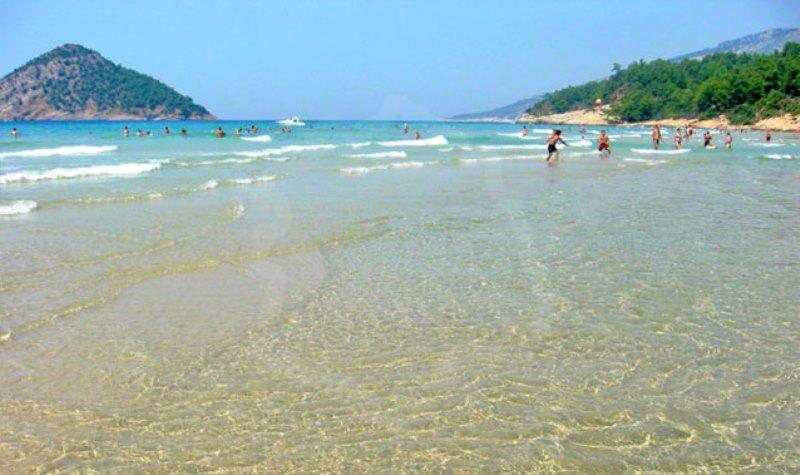 Thassos adası paradise beach