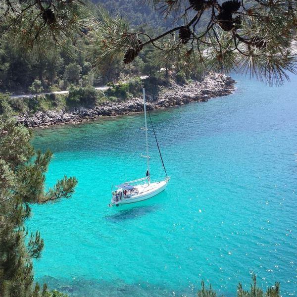 Thassos adası plajları