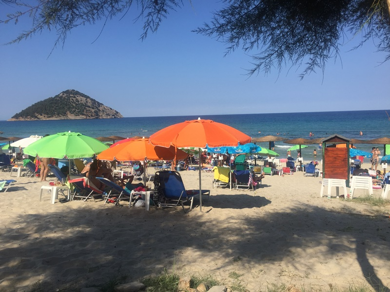 thassos adası paradise beach kumsalı