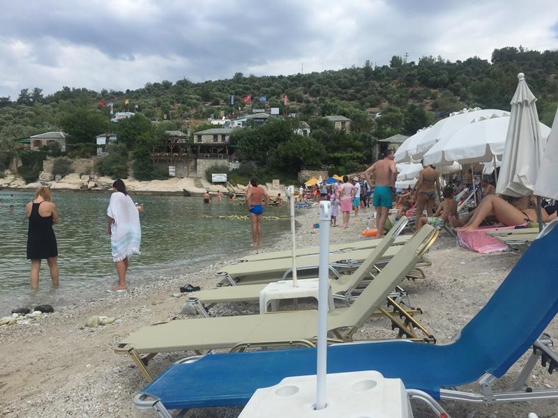 thassos aliki beach sahili