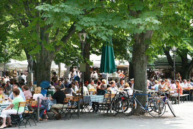 MünihViktualenmarkt - Münih bira bahçeleri