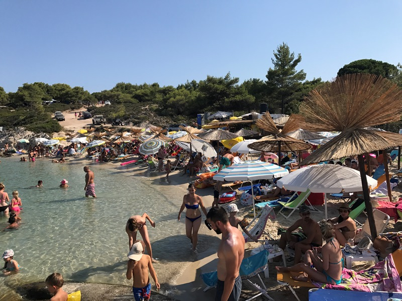 Halkidiki orange beach