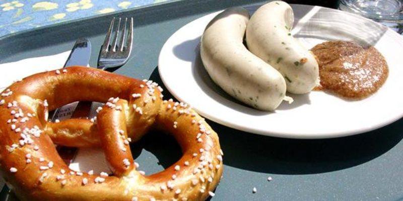Münih'te bretzel - münihte yeme içme