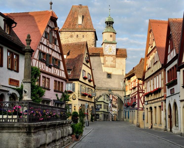 Almanya Rothenburg'da Konaklama