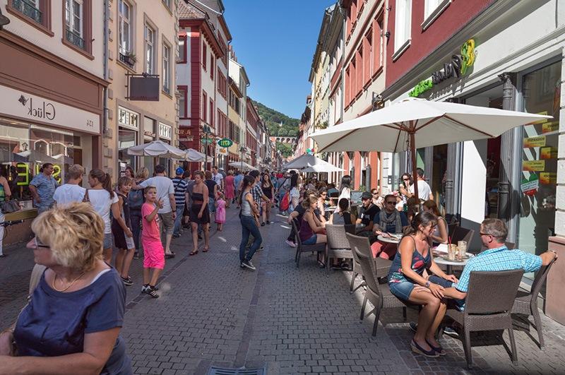 Heidelberg Hauptstrasse caddesi